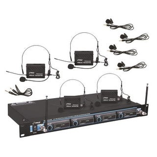 Rack Mount 4 Mic VHF Rack Mount Wireless Lavalie/ Headset System