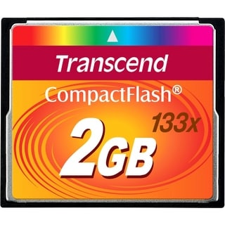 Transcend 2 GB 133x CompactFlash Memory Card TS2GCF133 - Black