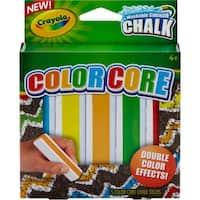 Crayola Color Core Washable Sidewalk Chalk-Assorted Colors 5/Pkg