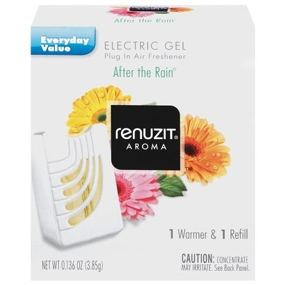 Renuzit Gel Warmer Air Freshener, After The Rain 0.136Oz