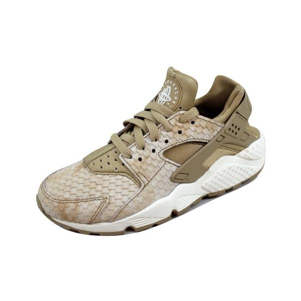 e09e607d00a Shop Nike Women s Air Huarache Run Premium Linen Linen-Sail 683818 ...
