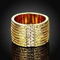 Gold Plated Classical New York Band Ring - Thumbnail 1