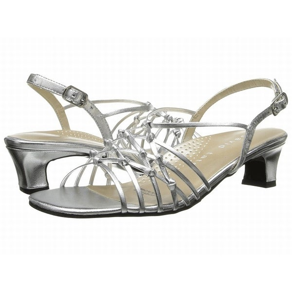 David Tate NEW Silver Girl's Shoes Size 4M Yknot Strappy Sandal