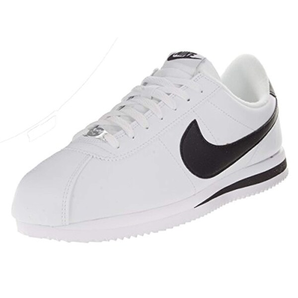 new styles bbf75 1bfc7 Shop Nike Men s Cortez Basic Leather Black White Metallic Silver Casual Shoe  11 - Free Shipping Today - Overstock - 25632852