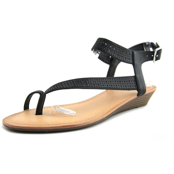 Unlisted Kenneth Cole Color Mix Women Open Toe Synthetic Black Thong Sandal