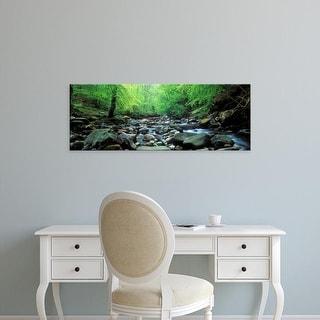 Easy Art Prints Panoramic Images's 'Stream flowing through rocks, Aberfeldy, Perthshire, Scotland' Premium Canvas Art