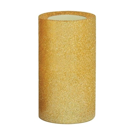 Inglow CGT26266GDGL Flameless Gold Glitter Pillar Candle With Timer