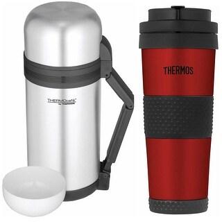 Thermos 1.3 Quart Food and Beverage Bottle w/ 18 oz Travel Tumbler
