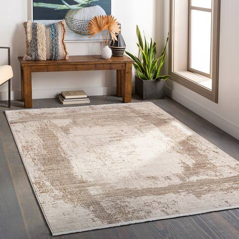 Vinnie Modern Abstract Stripe Area Rug