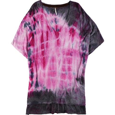 Free People Womens Tie-Dyed Embellished T-Shirt