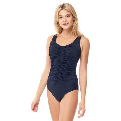 Sea Sand Swimwear Pleated Mio Swimsuit