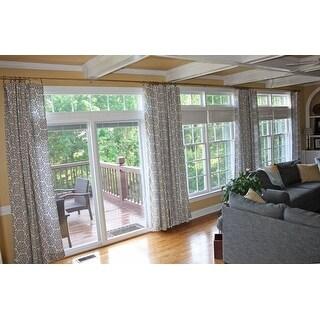 "Adjustable 144"" to 240"" Patio Door Curtain Rod"