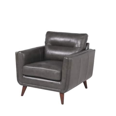 "Strick & Bolton Varmlandsbro Camel Leather Chair - 36""Lx37""Dx35""H"
