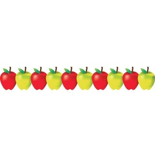 Red And Green Apples Border