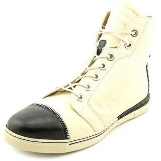 Stuart Weitzman Zipit Women Leather Ivory Fashion Sneakers