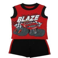 Nickelodeon Little Boys Red Blaze Car Sleeveless Top 2 Pc Shorts Set