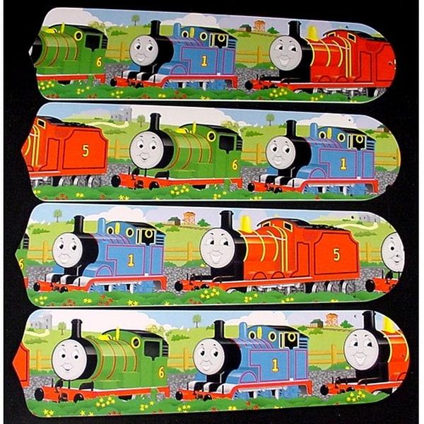 Thomas the Train Custom Designer 42in Ceiling Fan Blades Set - Multi