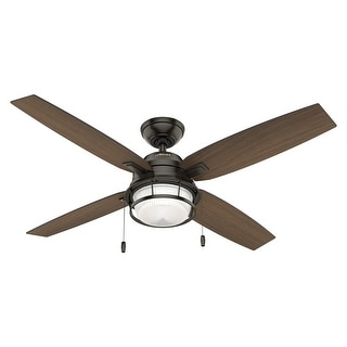 """Link to Hunter 52"""" Ocala Outdoor Ceiling Fan with LED Light Kit and Pull Chain, Damp Rated Similar Items in Ceiling Fans"""