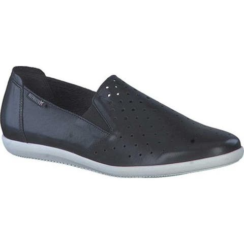 Mephisto Women's Korie Perforated Slip On Black Silk Smooth Leather