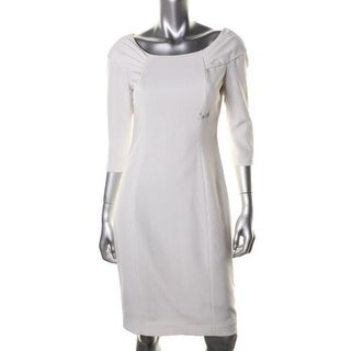 Elie Tahari Womens Mitsy 3/4 Sleeves Knee-Length Cocktail Dress - 12