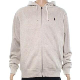 Polo Ralph Lauren NEW Beige Mens Size Large L Full Zip Fleece Sweater