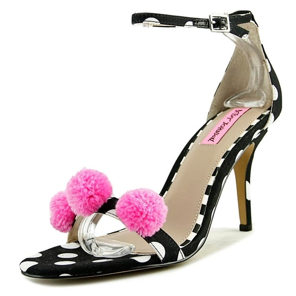 Betsey Johnson Lylly Open-Toe Canvas Heels