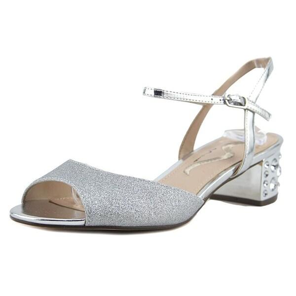 Nina Gentry Women Open Toe Synthetic Silver Sandals