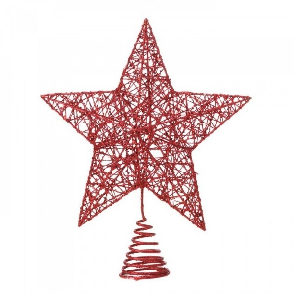 Red Twinkle Star Tree Topper