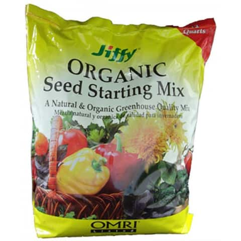 Jiffy G312 Natural & Organic Seed Starter Potting Mix, 12 Quart