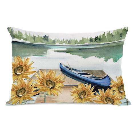 Lake Days - Lumbar Pillow by Jennifer Paxton Parker