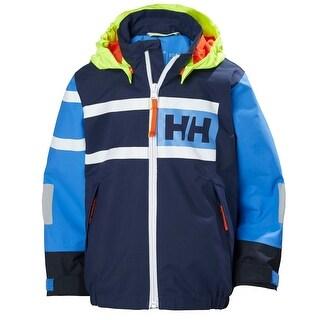 Helly Hansen Kids Unisex Salt Power Jacket - Evening Blue, 134/9