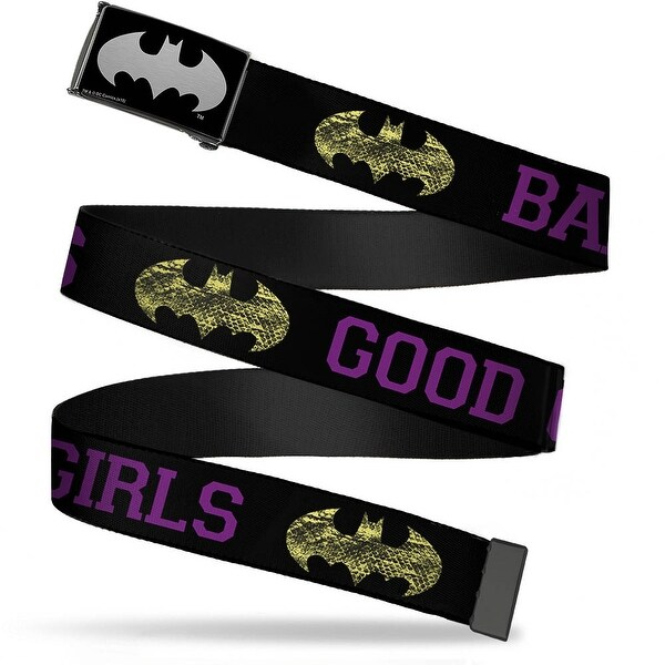 Batman Reverse Brushed Silver Cam Snake Skin Bat Signal Good Girls Bad Web Belt