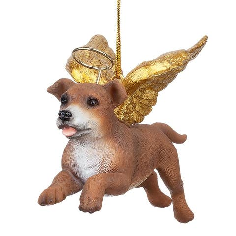 Design Toscano Honor the Pooch: Pit Bull Holiday Dog Angel Ornament