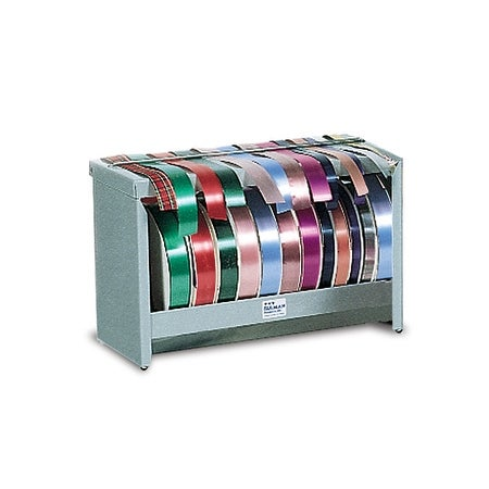 "Pack of 1, Solid Deluxe Ribbon Dispenser H 11.5"" W 18"" D 8"" For Gift Wrap Or Kraft Paper, Wall Mount, Top Of Counter Mount"