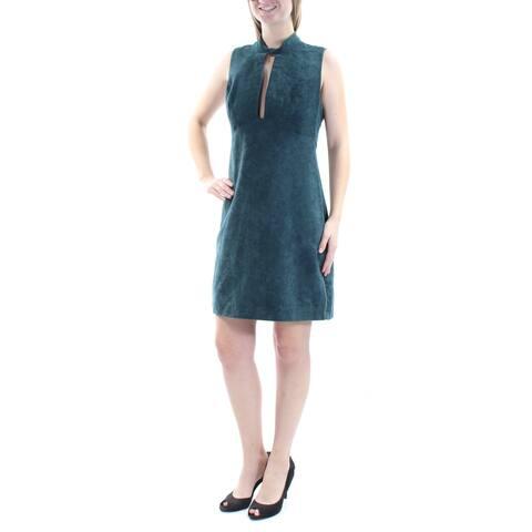BCBGENERATION $98 Womens New 1298 Green Faux Suede Sheath Dress 10 B+B