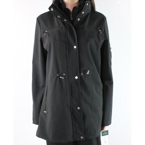 Lauren by Ralph Lauren Black Women's Size Medium M Drawstring Coat