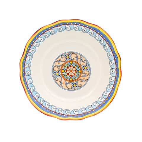 """Euro Ceramica Duomo 12"""" Serving Bowl - 7'10"""" x 11'"""