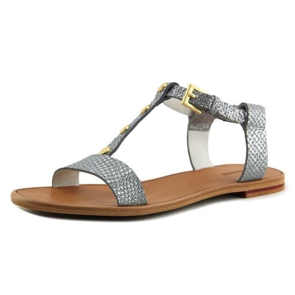 Hammitt Jesse Women Open-Toe Leather Silver Slingback Sandal