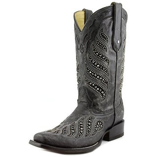 Corral C2857 Women Square Toe Leather Black Western Boot