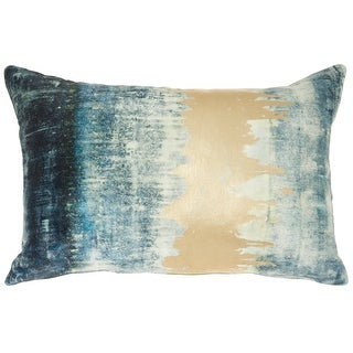 """Link to Mina Victory Sofia  Teal Throw Pillow , ( 14"""" x 20"""" ) Similar Items in Decorative Accessories"""