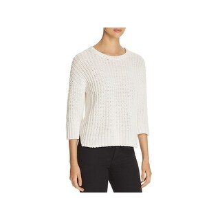 Eileen Fisher Womens Pullover Sweater Open Knit Crew Neck