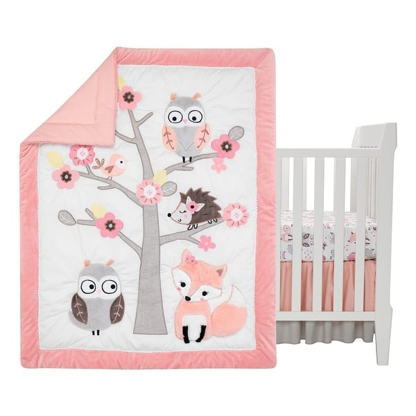 Friendship Tree Pink Woodland Owl