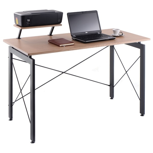 Computer Desk Pc Laptop Wood Table Home Office Study: Shop Costway Computer Desk PC Laptop Table W/ Printer