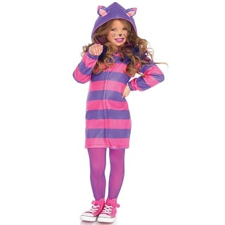 Leg Avenue Cozy Cheshire Cat Child Costume - Pink/Purple