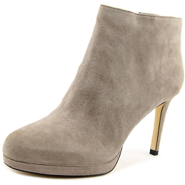 Michael Michael Kors Sammy Ankle Bootie Women Round Toe Suede Gray Ankle Boot