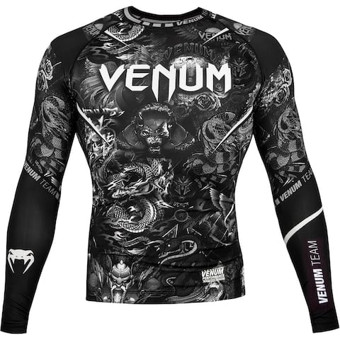 Venum Art Long Sleeve Compression Rashguard - Black/White