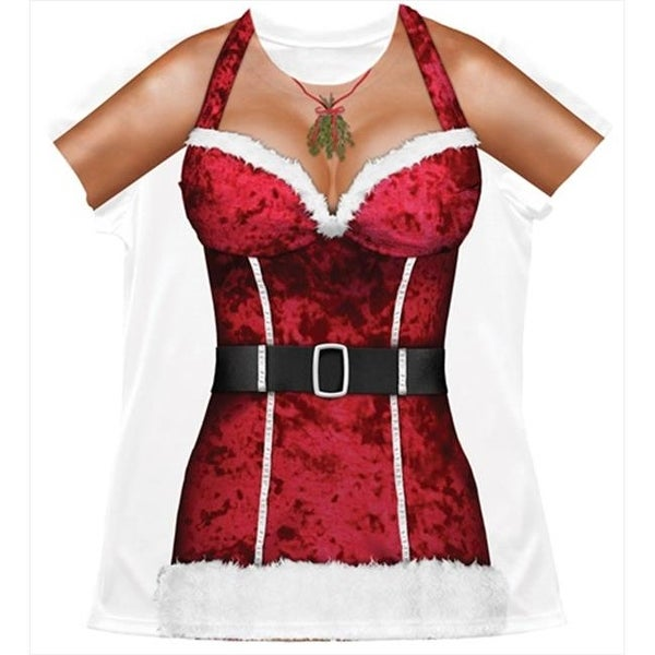 55ce2d5aab9 Shop Faux Real F115910 Faux Real Shirts Sexy Ladies Santa - Medium - Free  Shipping On Orders Over  45 - Overstock.com - 22936441