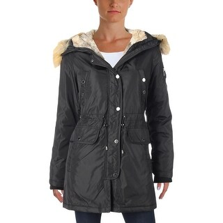 1 Madison Expedition Womens Petites Parka Coat Winter Wool Blend