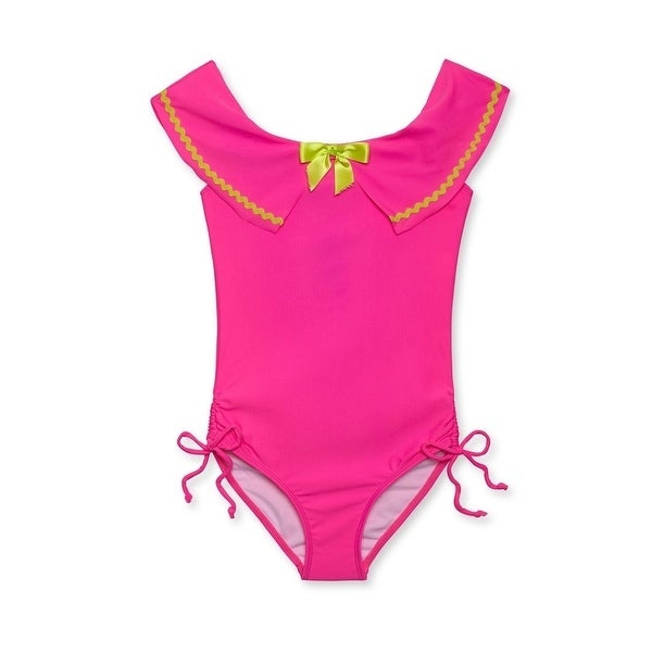 afdb4dea74 Shop Stella Cove Baby Girls Pink Rick Rack Trim Sailor One Piece Swimsuit -  12 Months - Free Shipping Today - Overstock - 25687243