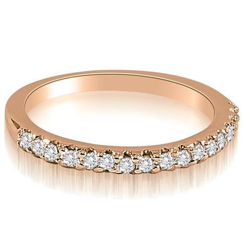 0.17 cttw. 14K Rose Gold Round Cut Diamond Wedding Band